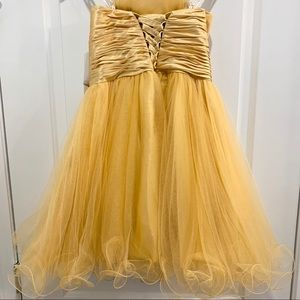 GLS Collective Dresses - NWT Gold Strapless Sweetheart Beaded Tulle Dress